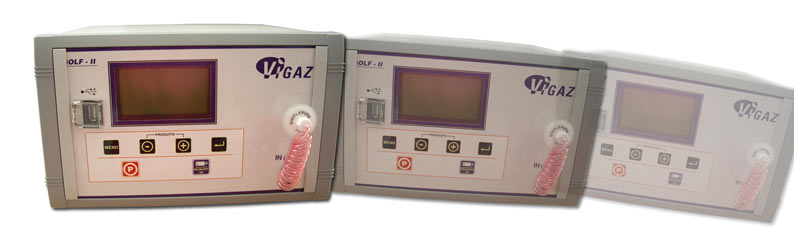 Continuous testing O2 CO2 analysers