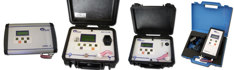 O2 CO2 analysers